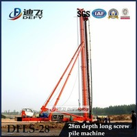 Factory Price 28m Depth DFLS-28 Hydraulic Rotary Piling Driving Rigs Manufacturer
