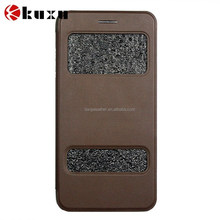 Newest window view stand practical smart folio leather case for iphone