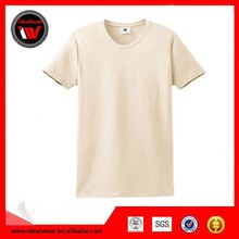 Custom high quality plain 100% organic cotton t-shirts