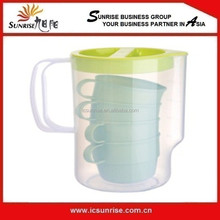 Cold Water Pitcher With 4 Cup, Plastic Water Jar