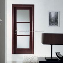 Interior Swinging Wood Door Lead Glass Inserts