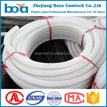 4'' flexible Single wall corrugated perforated plastic drilling pipe/subsoil slotted drainage pipe with square bore