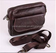 Wholesale new fashion genuine leather men wallet short style shoulder bag