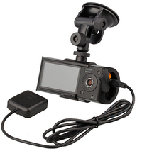 X3000 New Dual Lens Car Dual Camera 140 Degree with GPS Logger + G-sensor auto video recorder dash cam