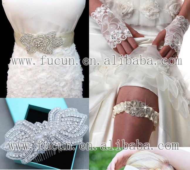 rhinestone lace and pearl applique 5