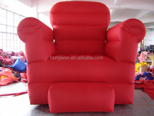 Top quality advertising inflatable red sofa model for promotion