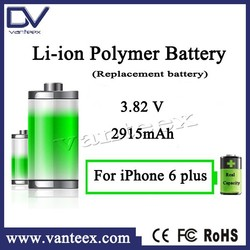 For iphone 6plus phone battery replacement deep cycle batteries recharge