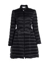 Popular style balck beauty long overcoat women winter coat jacket