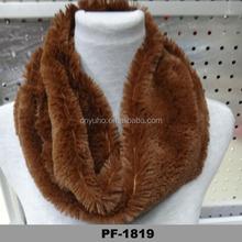2014 Real Hand Knitting Rex Rabbit Fur Fashion Scarf