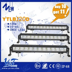 Buy 10 get 11! offroad headlights with optionl color tractor led light bar 120w offroad light kits