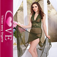 Robe Revealing Vest Dress Holy Transparent See Through Sexy Gown Lingerie With G-string