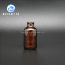 Pharmaceutical clear & amber glass moulded injection bottle wholesale