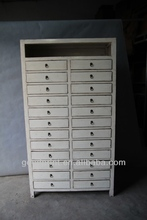 Antique Pine Wood Tall Chest Cabinet File Cabinet Filling Cabinet