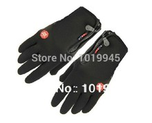 Touch Screen New 2014 Men Black Windstopper Outdoor Sports Cycling Bike Bicycle Gloves, Winter Warm Full Finger Gloves 03151