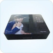 rectangle metal cosmetics packing box
