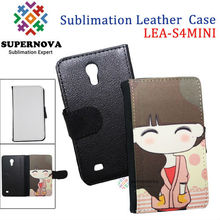 Sublimation flip leather case for samsung galaxy s4 mini