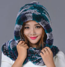 Russian Hat Natural Rabbit Fur Warm Winter Dress Ethnic Folk Art and Crafts Wholesale, Russia