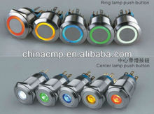 CMP 22mm vandalproof stainless steel Bi-color LED Push Button Switch