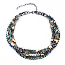 New Shourouk Style Fashion Brand Designer Handcrafted Necklaces N10597