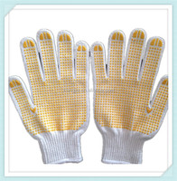 2014 ADTO GROUP Factory Supply durable Cotton knitted white hand safety industrial glove