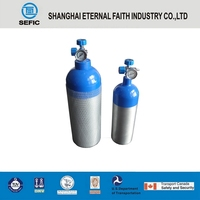 High Quality Small Portable 25E Valve Medical Oxygen Aluminum Gas Bottles