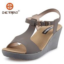 2015 new design woman wedge Plastic sandals shoes lady PVC jelly roman sandal pvc shoes cheap plastic sandals