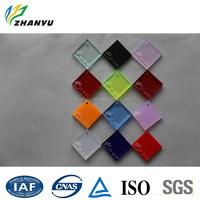 ZhanYu Acrylic Translucent Cheap Hard Plastic Sheet Size and Color Custom