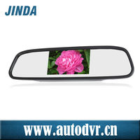 Full high resolution 4.3 inch screen car mirror monitor, sliver, Black color optional mirror, car rearview mirror