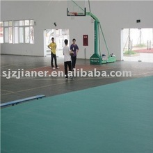 plastic flooring for basketball court in green color