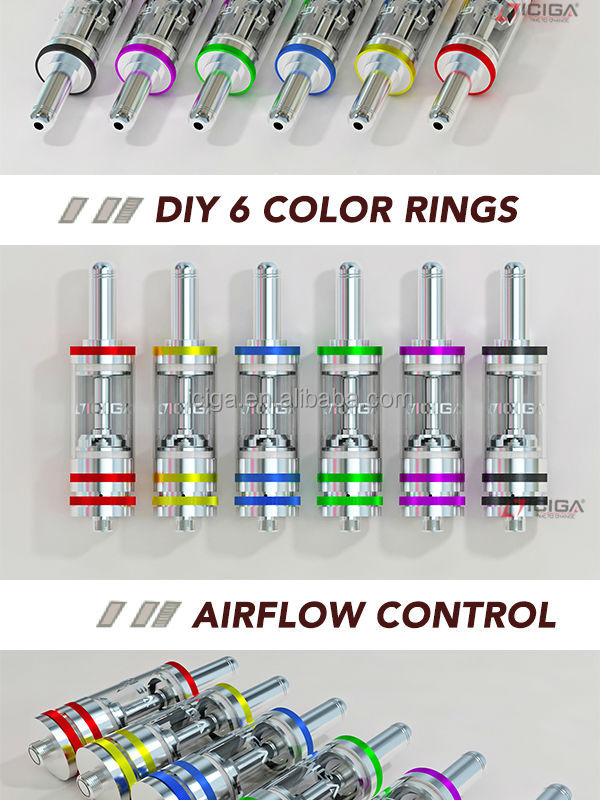 ICIGA Dual Ceramic Coil BDC -3 rings BDC clearomizer with self-cleaned dual ceramic heating coil high quality yocan expure