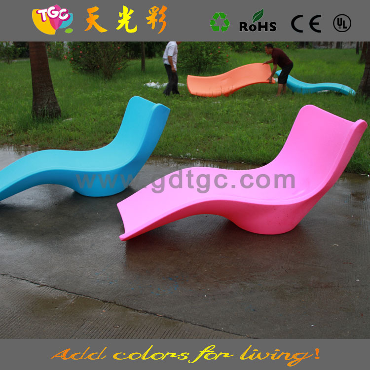 Outdoor lounge chair colored beach chaise lounge chair for Chaise coloree