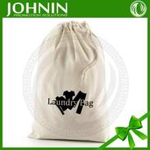 Recycling natural unbleached wholesale cotton fabric drawstring bag