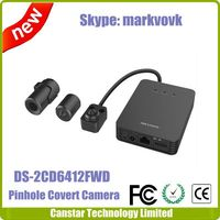 PAL/NTSC system Hikvision Pinhole Covert Camera DS-2CD6412FWD-20