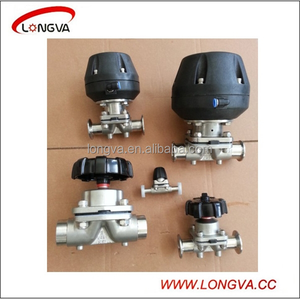 Sanitary stainless steel pneumatic diaphragm control valve