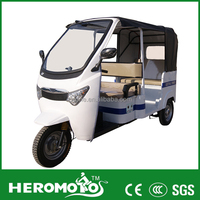 Luxury Electric Tricycle For Passenger Taxi Rickshaw 60V 1000W Brushless Motor