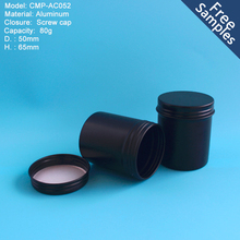 High quality new arrival 80g black round metal tin manufacturer in China