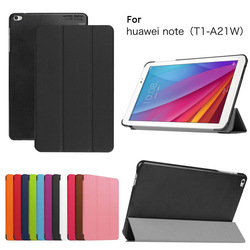 PREMIUM BLACK THIN HARD PU LEATHER CASE SMART COVER FOR HUAWEI MEDIAPAD T1 10 (2015)