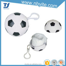 Hot sell rain poncho in ball as promotion plastic ball poncho