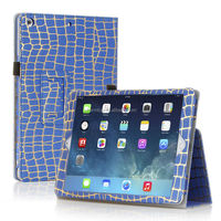 100% Brand New Crocodile Leather Stand Case For iPad Air