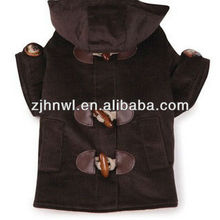 Chocolate Fleece Corduroy Dog Winter Jacket/denim dog jackets