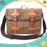 KB199502 Retro Canvas Leather Camouflage Retro Travel Shoulder Bag