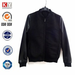 2016 new fabric custom PU leather motocycle wear men's suede jacket