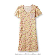 Women's Short-Sleeve Knit Nightgown