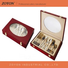 High quality competitive price 24pcs stainless steel flatware with window