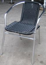 aluminum rattan wicker stacking coffee chair YC028