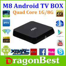 Best M8 Android 4.4 Rooted TV Box Quad Core XBMC 2.4GHz Wifi Mini PC