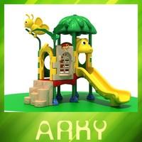 Commerical small kids plastic slide outdoor playground equipment garden slide