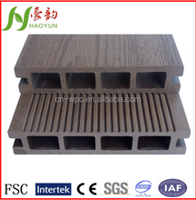 2015 hot selling composite decking for swimming pool with wood grain