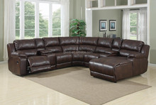 Luxury furniture leather couch and armchair sofa set