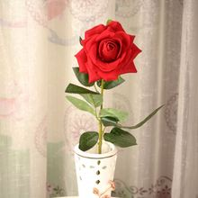 2015 wedding decor cheap artificial red rose flower